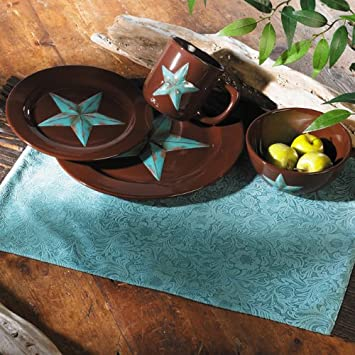 Turquoise Star Southwestern Dinnerware Set - 16 pcs - Southwestern Kitchen Dinnerware & Amazon.com | Turquoise Star Southwestern Dinnerware Set - 16 pcs ...