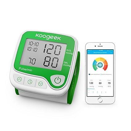 Koogeek Tensiómetro de Muñeca Digital Monitor de Presión Arterial Bluetooth Medir la Frecuencia Cardíaca Función de