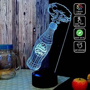 ADIS Coca Cola 3D Acrílico Luz Nocturna 7 Color LED
