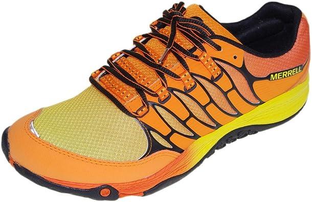 Merrell - Zapatillas de Running de Material Sintético para Hombre Naranja Naranja: Amazon.es: Zapatos y complementos