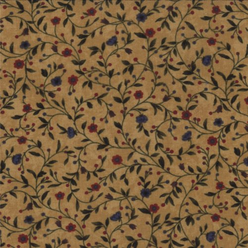 - Kansas Troubles Favs II, Tiny Floral, Vines Mushroom Gold 9410 11, by The Yard