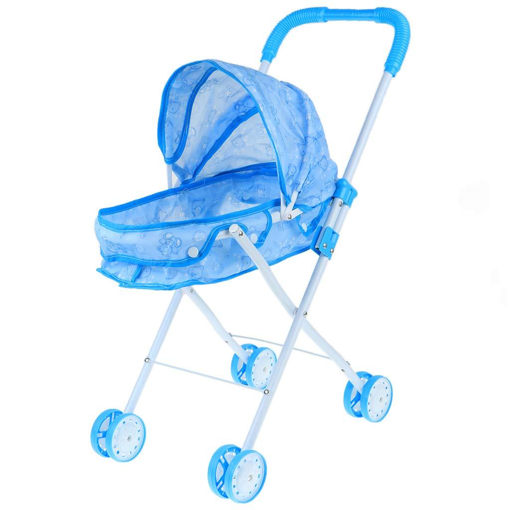 Sharplace Mini Cochecito de Bebé Silla de Paseo de Simulación Plegable Desmontable Juego de Pretender para Niños - #4