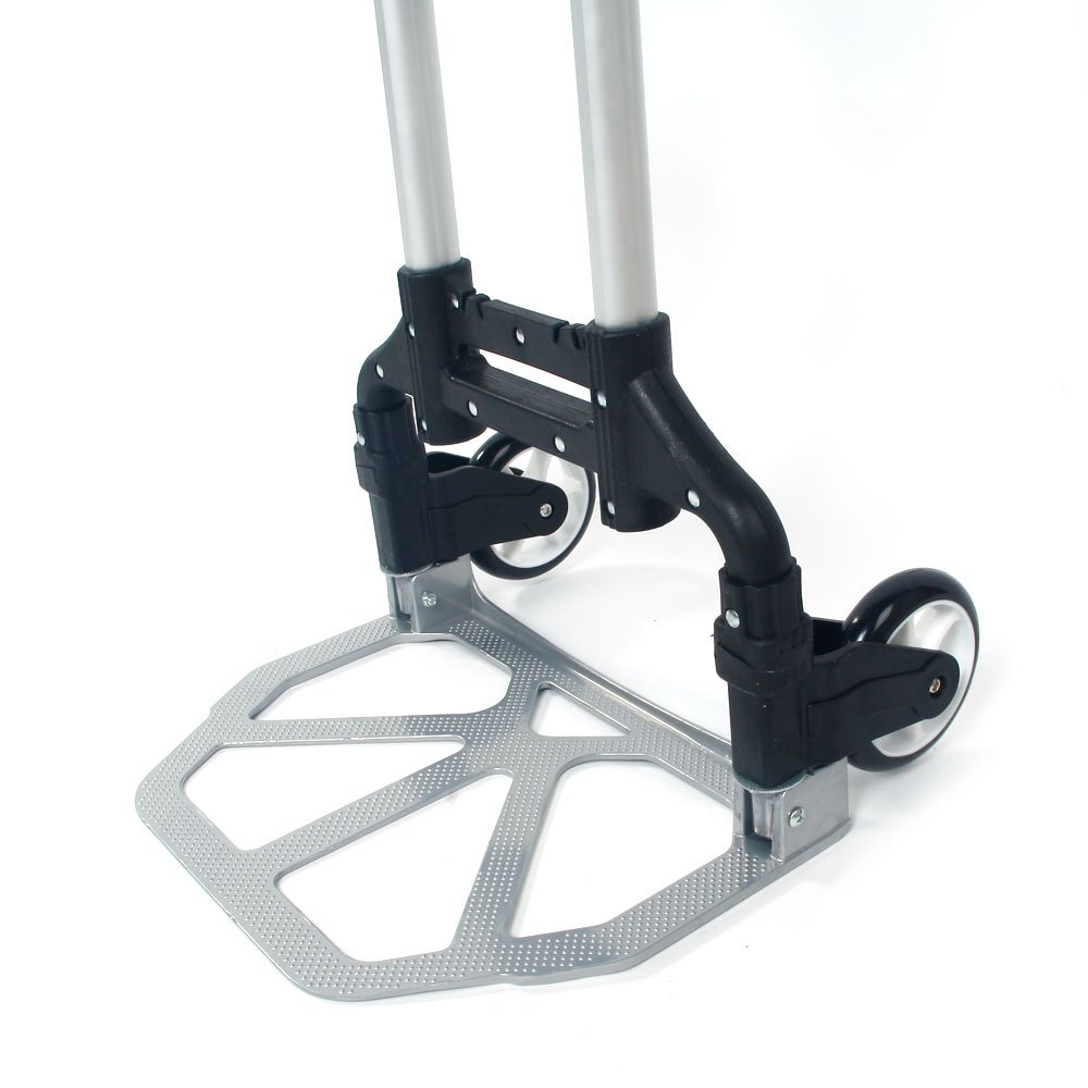 WisHome Portable Folding Collapsible Aluminum Cart Dolly Push Truck Trolley Black by WisHome (Image #7)