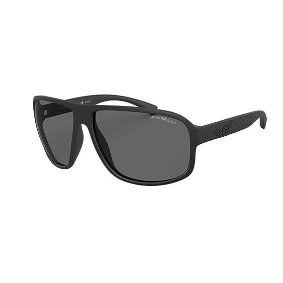 Emporio Armani 0EA4130 Gafas de sol, Matte Black, 63 para ...