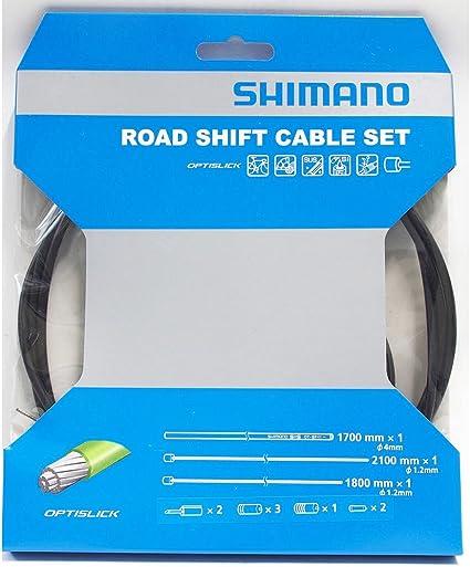 Black Shimano MTB Optislick Derailleur Cable and Housing Set