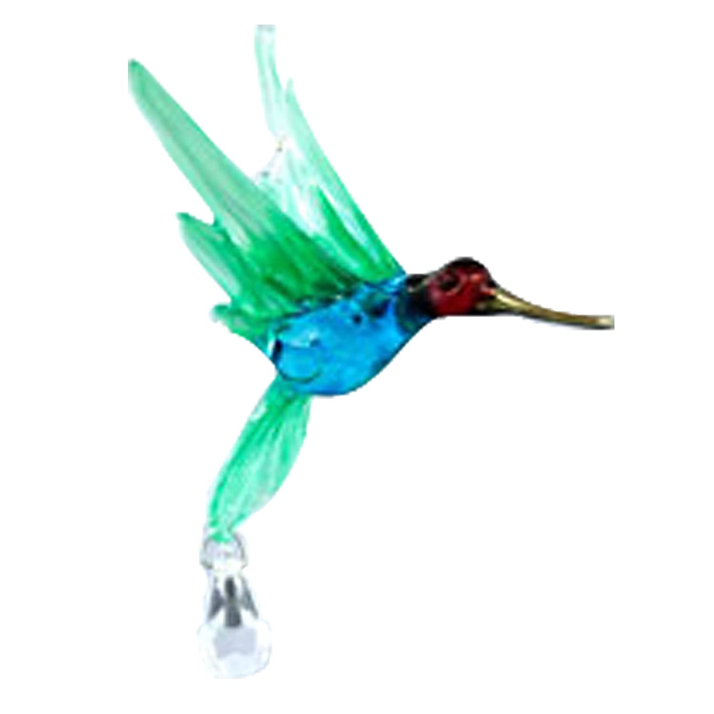 Hummingbird with Crystal Bead Glass Figurines