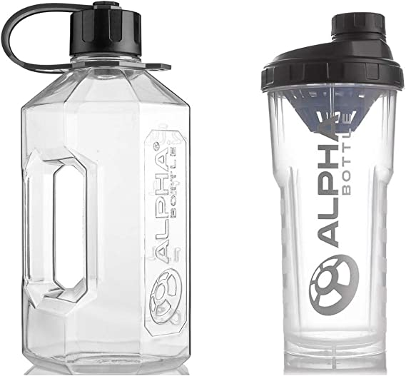 Mezclador de proteína de 1L y botella de agua XXL de 2,4 L ...