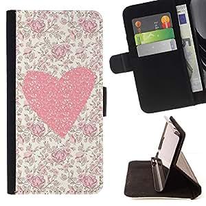 For Samsung Galaxy J3(2016) J320F J320P J320M J320Y Case , Flores florales del amor de la muchacha de Primavera- la tarjeta de Crédito Slots PU Funda de cuero Monedero caso cubierta de piel