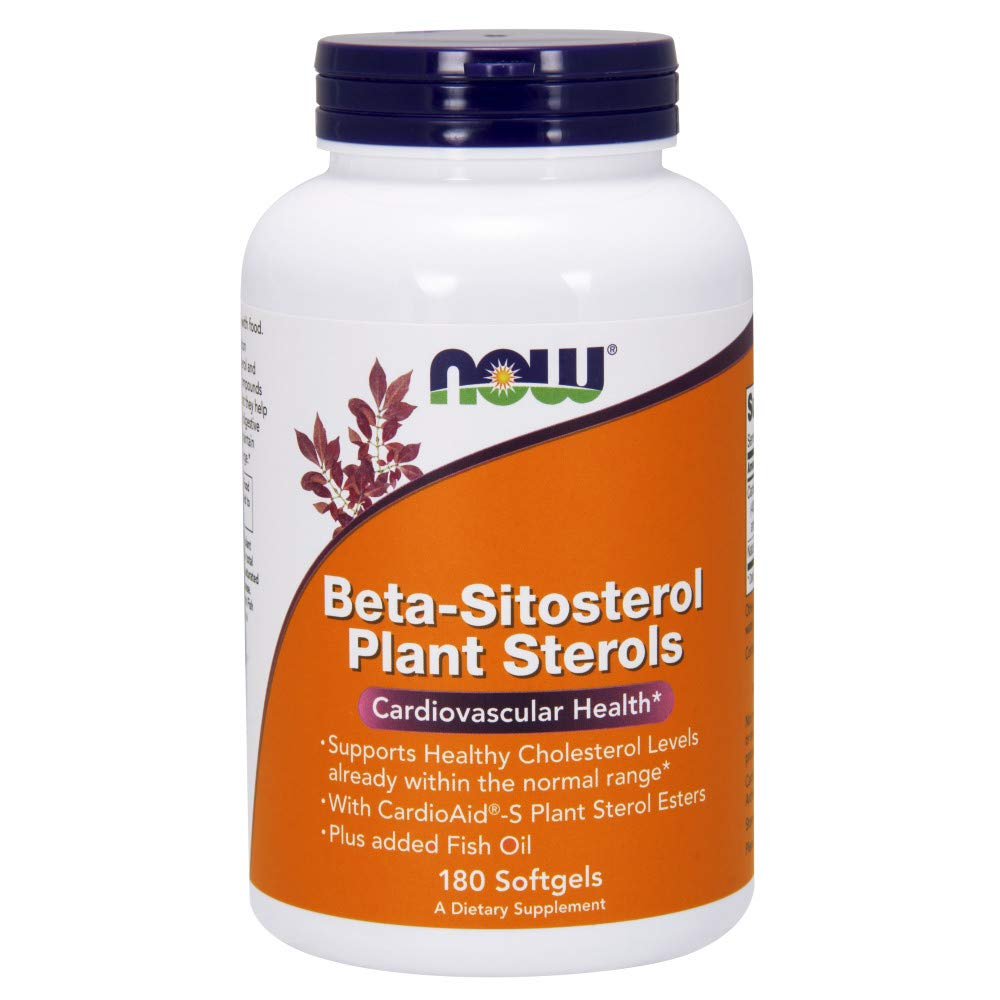 Now Supplements, Beta-Sitosterol Plant Sterols with CardioAid®-S Plant Sterol Esters and Added Fish Oil, 180 Softgels