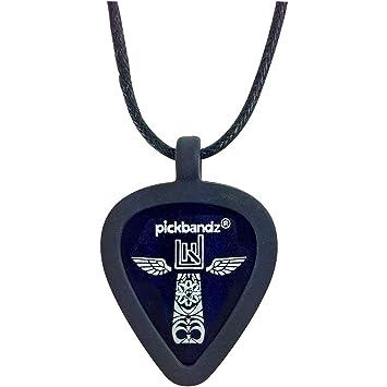 Pickbandz necklace epic black guitar pick plectrum holder pickbandz necklace epic black guitar pick plectrum holder aloadofball Image collections
