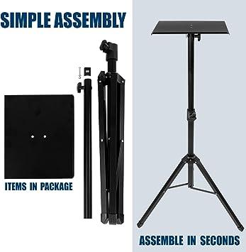 Amazon.com: Montaje: Soporte para proyector de trípode ...