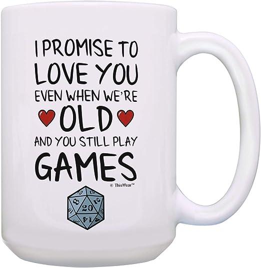 Love You More 15 Ounces Funny Coffee Mug