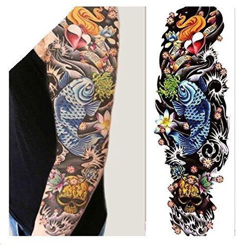 Temporary Tattoos, Full Arm Sleeve, Full Arm Tattoos (10 Sheets), Temporary Tattoo Full Tattoo