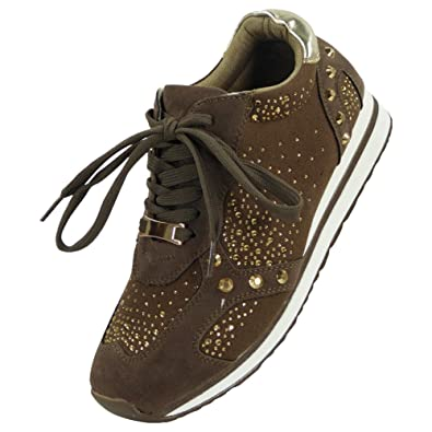NEW WOMENS LADIES RUNNING TRAINERS FITNESS GYM SPORTS COMFY LACE UP SHOES UK 3-8