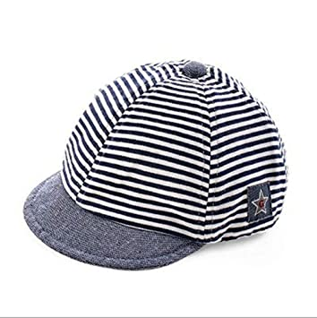 Sombrero de béisbol sol bebé recién nacido diseño de rayas Gorra Visera Large borde anti-UV protección solar sombrero de playa piscina pesca ...