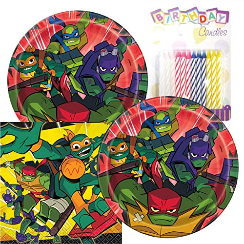 Rise of The Teenage Mutant Ninja Turtles Birthday Party Pack - Includes 7