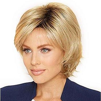 Xuanhemen Flauschige Kurze Perucke Blonde Synthetische Lockige Kurze