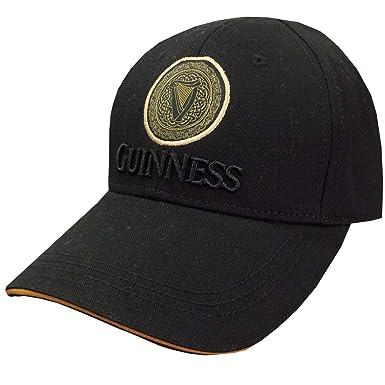 18d5c6886 Guinness Black/Tan Celtic Knot Harp Baseball Cap at Amazon Men's ...