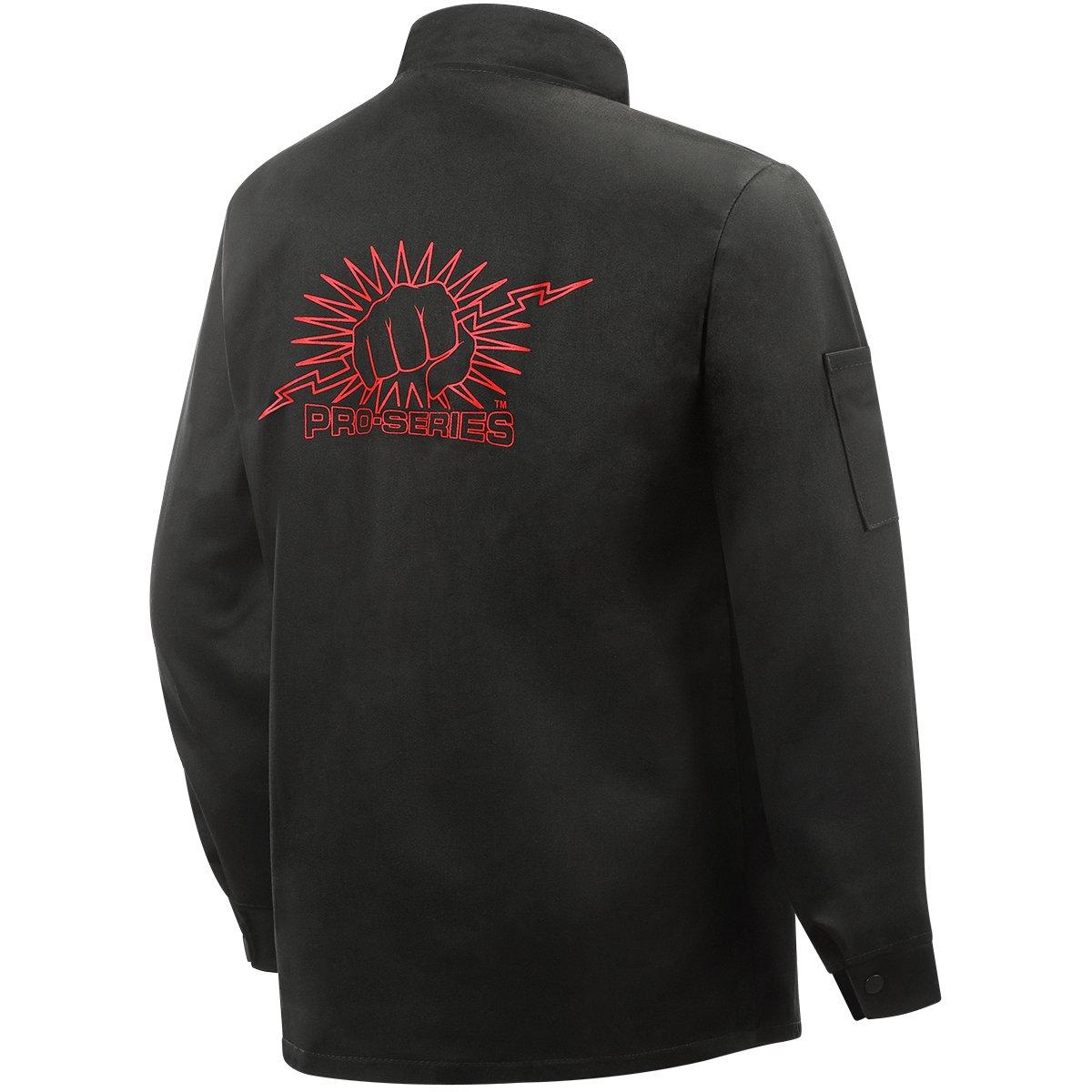 Weldlite Black 9-Ounce Flame Retardant Cotton Large Steiner 1160-L 30-Inch SPS Jacket