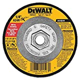 Dewalt DW4523 4 Pack 4-1/2-Inch by 1/4-Inch by 5/8-Inch General Purpose Metal Grinding Wheel