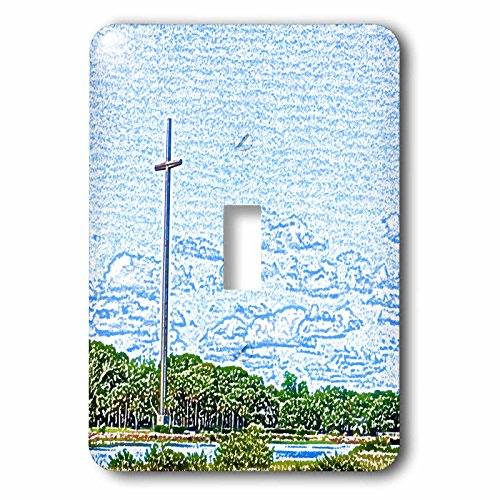 3dRose lsp_186575_1 Cross Landscape Sketch St Augustine Light Switch - St Outlets Of Augustine