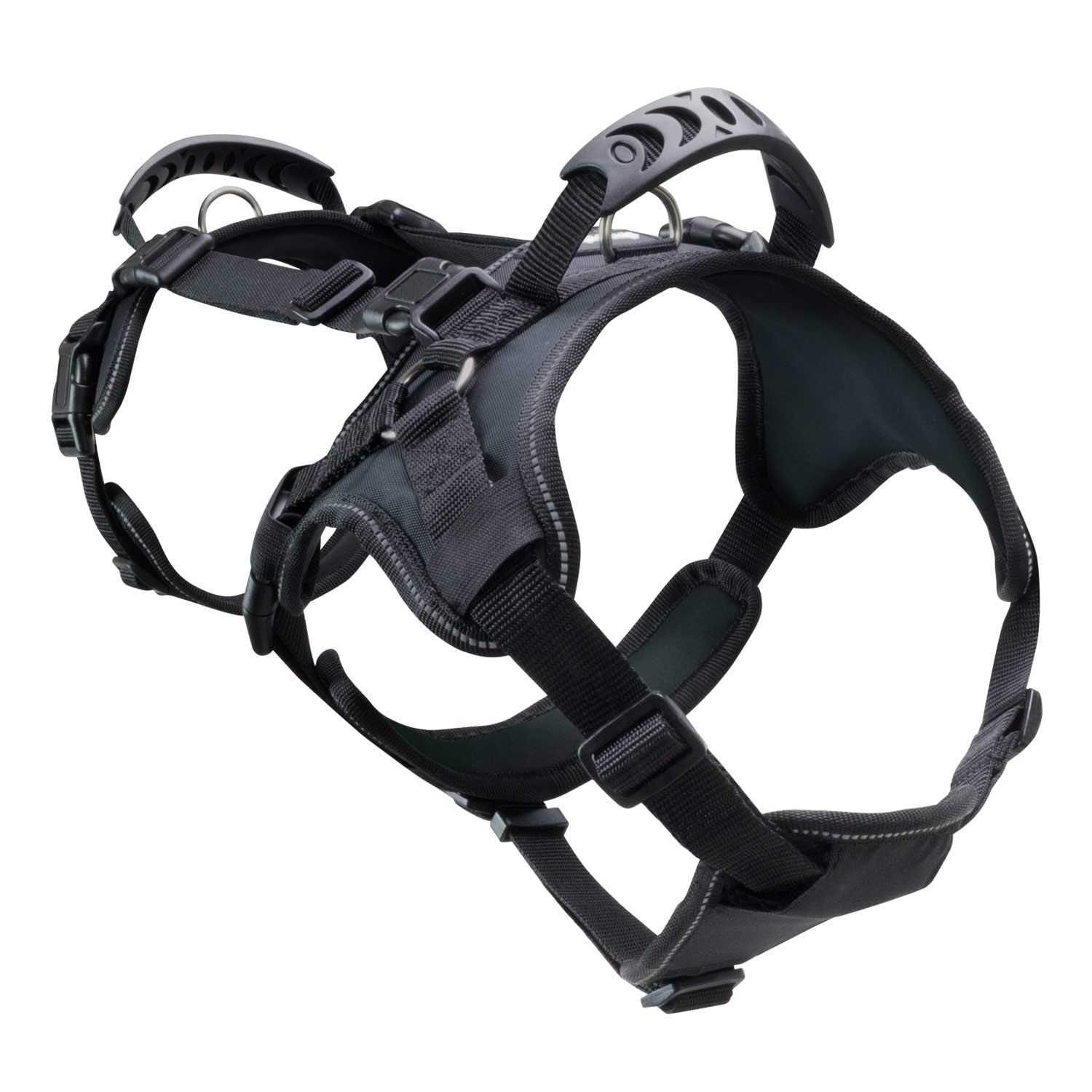 FrontPet Heavy Duty Dog Lifting and Pulling Harness Equipment, Fits 26.5 to 31.5 Inch Body, for Walking, Running, Hiking, Lifting, Carrying and Transporting Canines and Other Pets, Large, Black