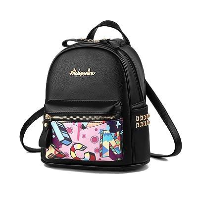 KJWXSGFF Ladies Casual Daily Rucksack Shoulder Bag,black,26X23X13CM