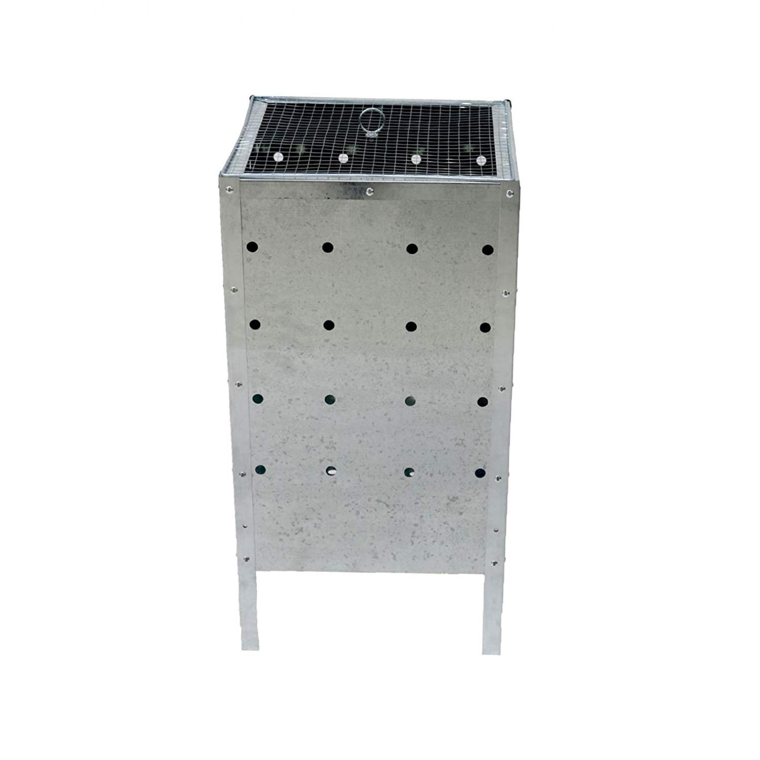 120L 120 Litre Large SQUARE Galvanised Metal Incinerator W x 40cm x 90cm Set of 4 - Quick /& Easy Assembly 40cm H L