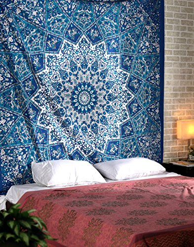 Psychedelic Star Tapestry Indian Hippie Mandala Bedspread Decorative Wall Hanging Picnic Beach Sheet By Rajrang
