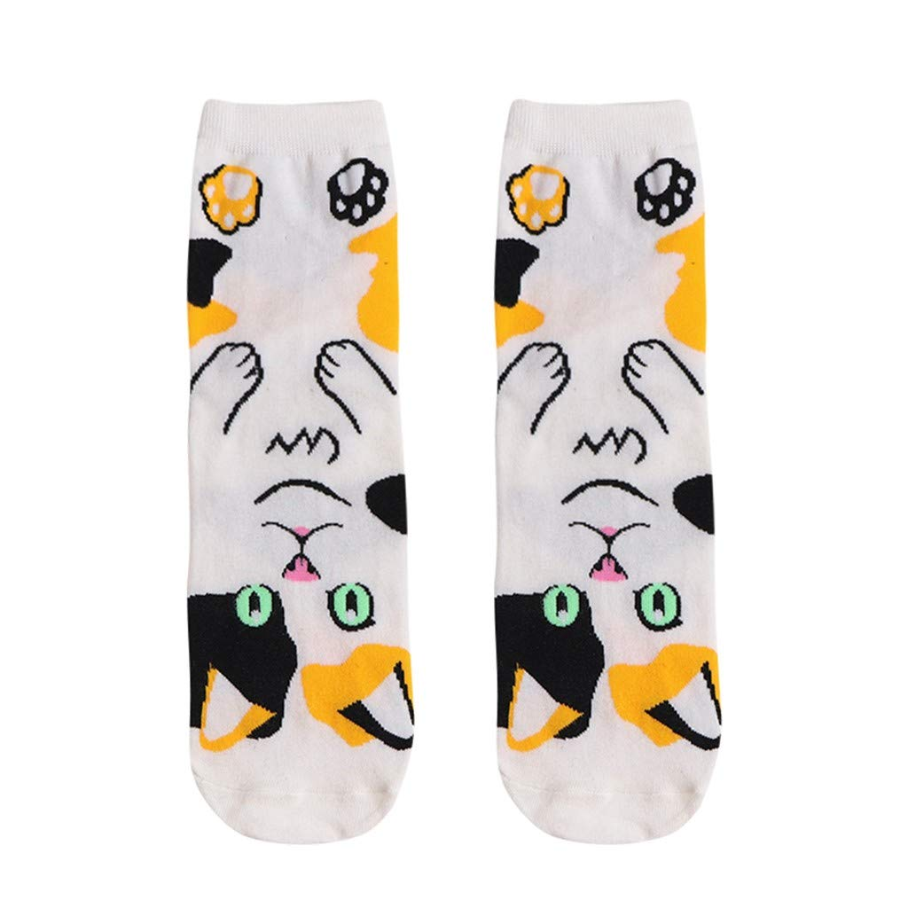 Womens Casual Socks - Cute Crazy Lovely Animal Cats Dogs Owls Art Pattern Good for Gift Funny Crew Socks