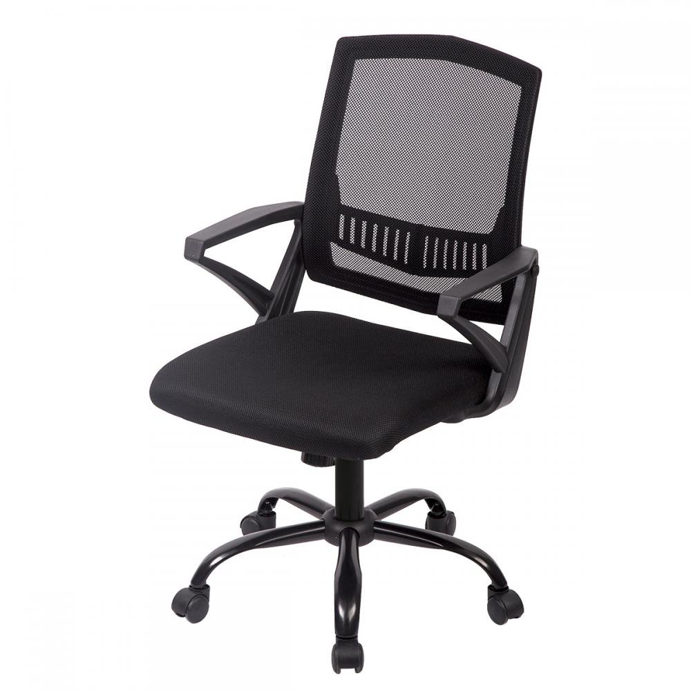 Mid Back Mesh Ergonomic Computer Desk Office Chair, H12 Black