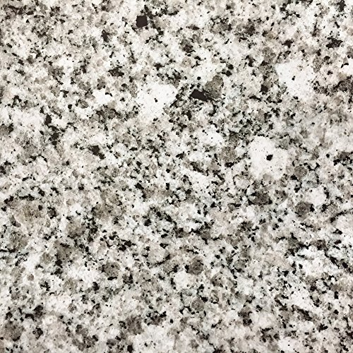 Light White Granite Look Marble Gloss Film Vinyl Self Adhesive Counter Top  Peel and Stick Wall Decal 17 7''x98''