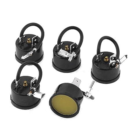 sourcingmap® 5 X 220V Hx1/5Hp Componentes Pasivos Térmica Protector De Sobrecarga Negro