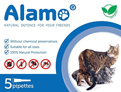 Alamo defensa natural Gatos 5 pipetas