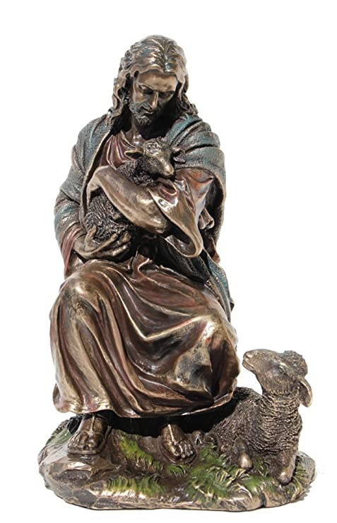 Amazon.com: 8.88 inch Jesús Holding Un bebé cordero figura ...