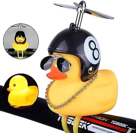 Lovely Cartoon Duck Helmet Silicone Ring Bike Bicycle Handlebar Bell Light Acc