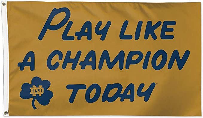 Wincraft Notre Dame Fighting Irish with Leprechaun NCAA 3 x 5 Ft Deluxe Banner Flag
