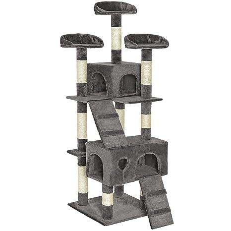 TecTake Rascador Árbol para gatos Sisal - gris -
