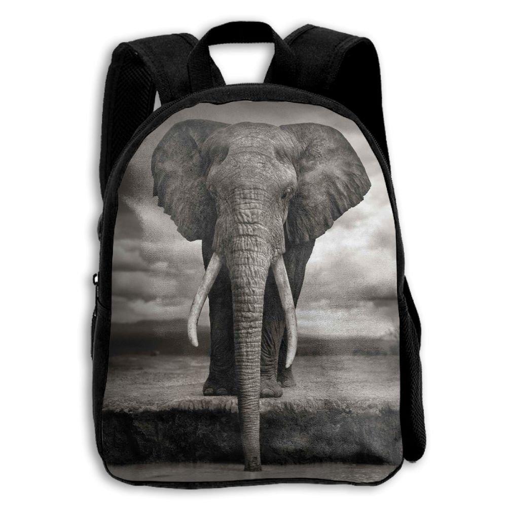 fidaljfスケッチタイ象アフリカの子供の3dプリントファスナー付き旅行バッグ学校バックパック   B07DN88G6L