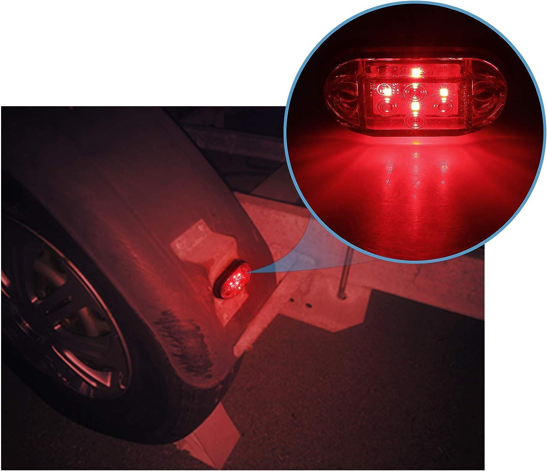 Automotive Justech 4 X Side Lights Led Side Marker Lights Led Position Side Lamps 12v 24v