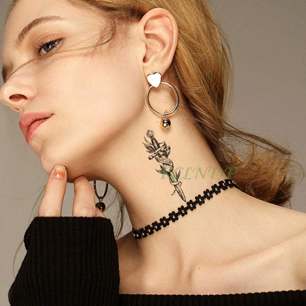 SDEFGH Etiqueta engomada del tatuaje 3 Piezas Impermeable Tatuaje ...