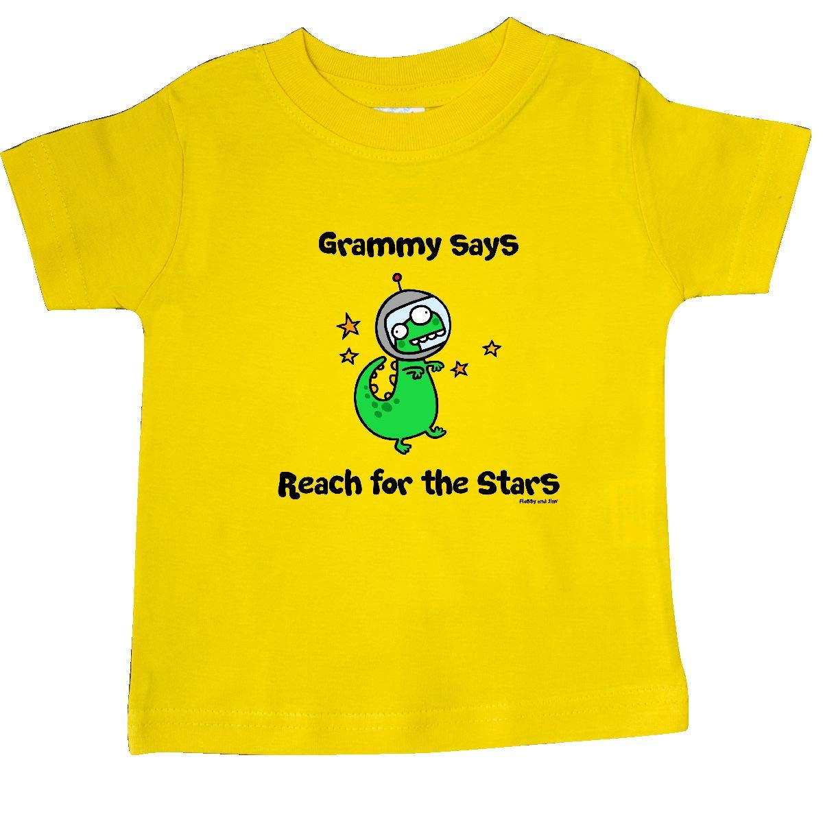 inktastic Grammy Says Reach for The Stars Baby T-Shirt Flossy and Jim