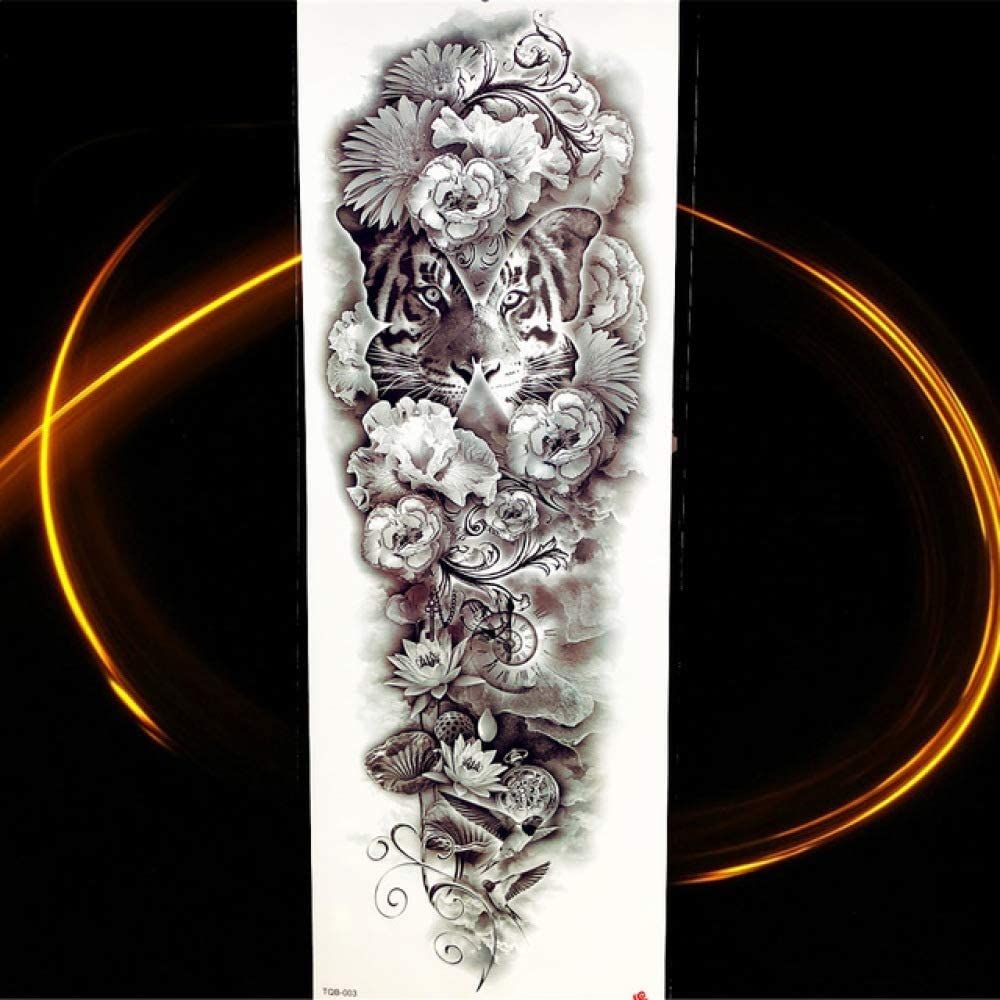 Brazo completo grande Tótem negro Tatuaje temporal Impermeable ...