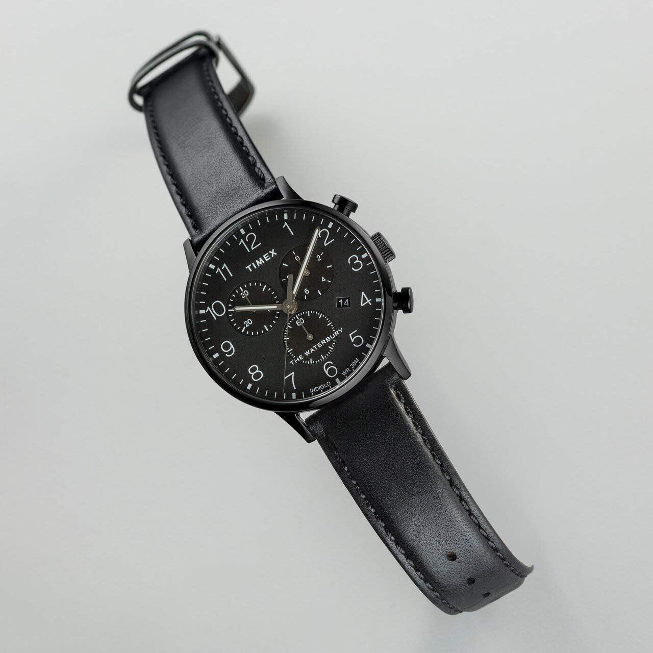 Timex Waterbury Classic Chrono Leather Black