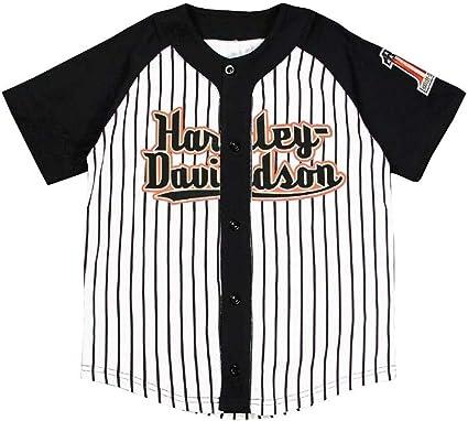 Harley-Davidson Little Boy raglán camiseta de béisbol: Amazon.es: Coche y moto