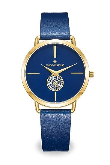 Reloj Mujer Timothy Stone colección Riviera, Dorado/Azul
