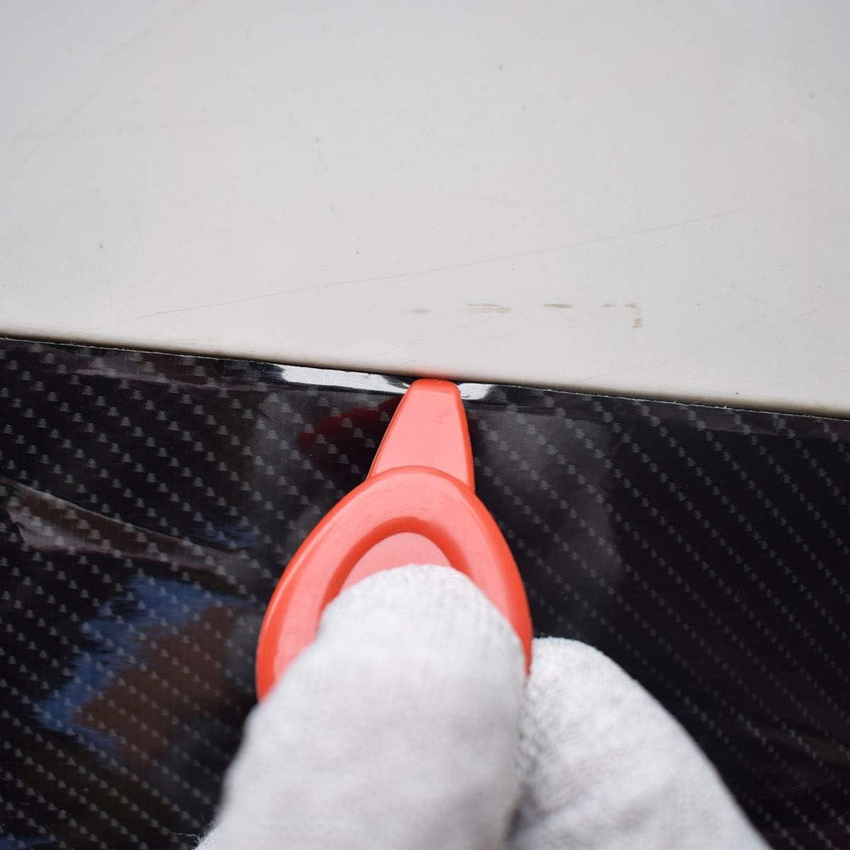 SYTASOO 3PCS Soft Car Wrap Scraper Film Corner Squeegee Professional Auto Fiber Glass Window Tint Tool Squeegee Universal Vinyl Edge Groove Curve Slot Repair Tools