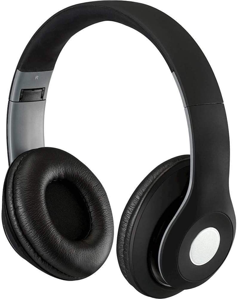 iLive Bluetooth On-Ear Headphones, Includes 3.5mm Audio Cable and Micro USB to USB Cable, Matte Black (IAHB48MB)