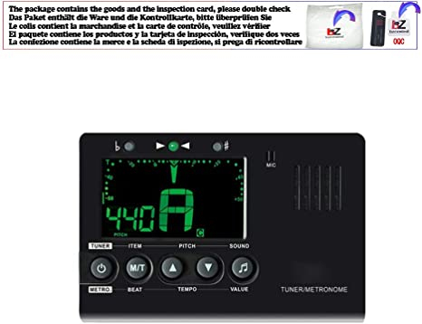 Afinador de guitarra eléctrica Metrónomo integrado micrófono con ...