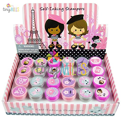 24 Pcs Paris Stampers for Kids